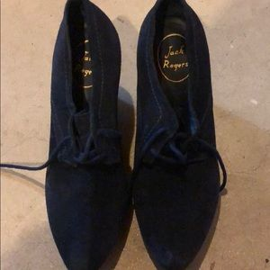 Jack Rogers suede wedge shoes size 7.5